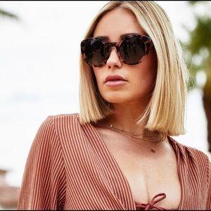 Diff eyewear Luna tortoise sunglasses
